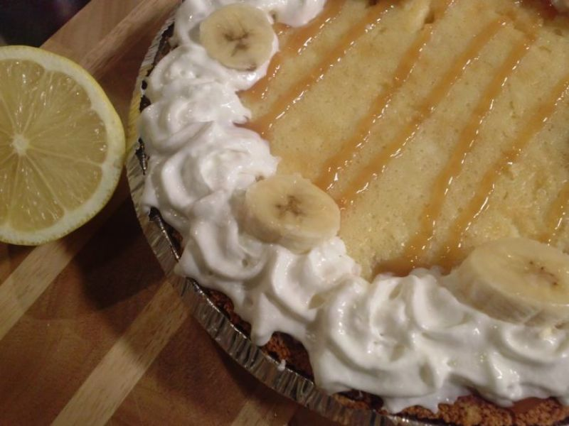 Bananas Foster Cream Cheese Pie