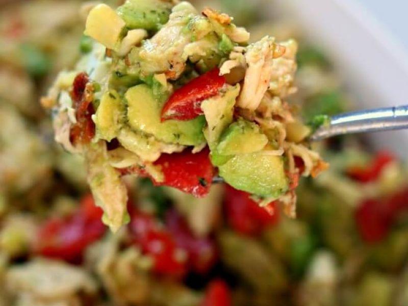 Instant Pot Egg, Chicken & Avocado Salad