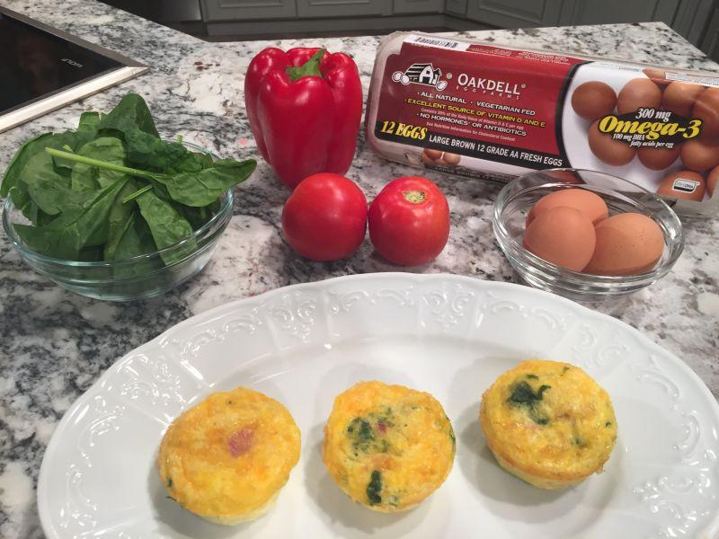 Spinach, Ham & Cheese Egg Muffins