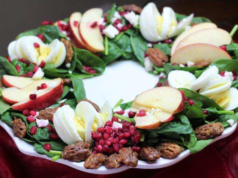 Apple Pomegranate Salad Wreath
