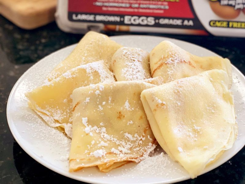 Crepes with a Lemon Ricotta Filling